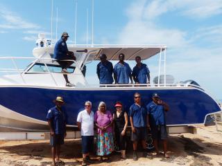 Bardi Jawi Rangers boat launch. Photo: Kimberley Land Council