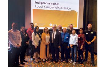 Local & Regional Co-Design Group members with Ken Wyatt, the Minister for Indigenous Australians, Dr Donna Odegaard AM and Professor Tom Calma AO