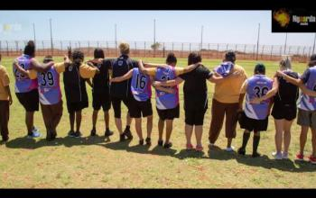 Listening to Ngaarda Radio connects Roebourne Prison inmates with their families (Photo courtesy of Ngaarda Media)