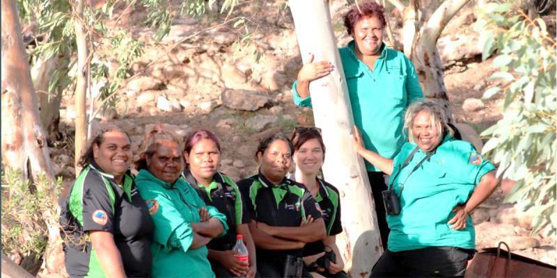 From left: Genise Williams, Topsy Ebatarinja, Faith Malbunka, Joanne Armstrong, Danielle Shallow, Sonya Braybon, Cheyene Pareroultja