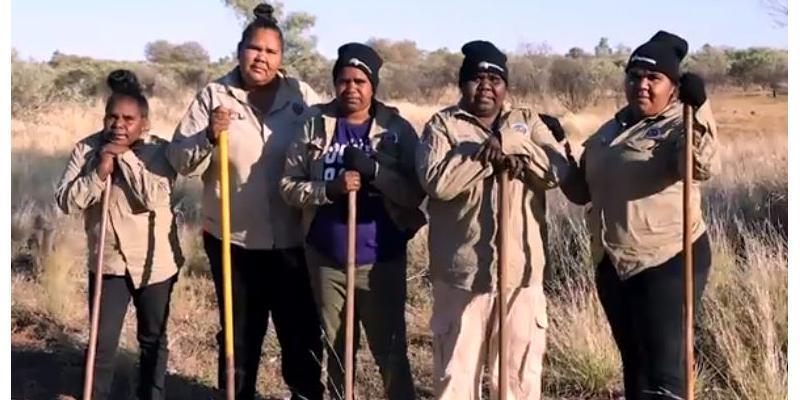 Ngurrara Rangers on Country (Photo courtesy of Yanunijarra Aboriginal Corporation)