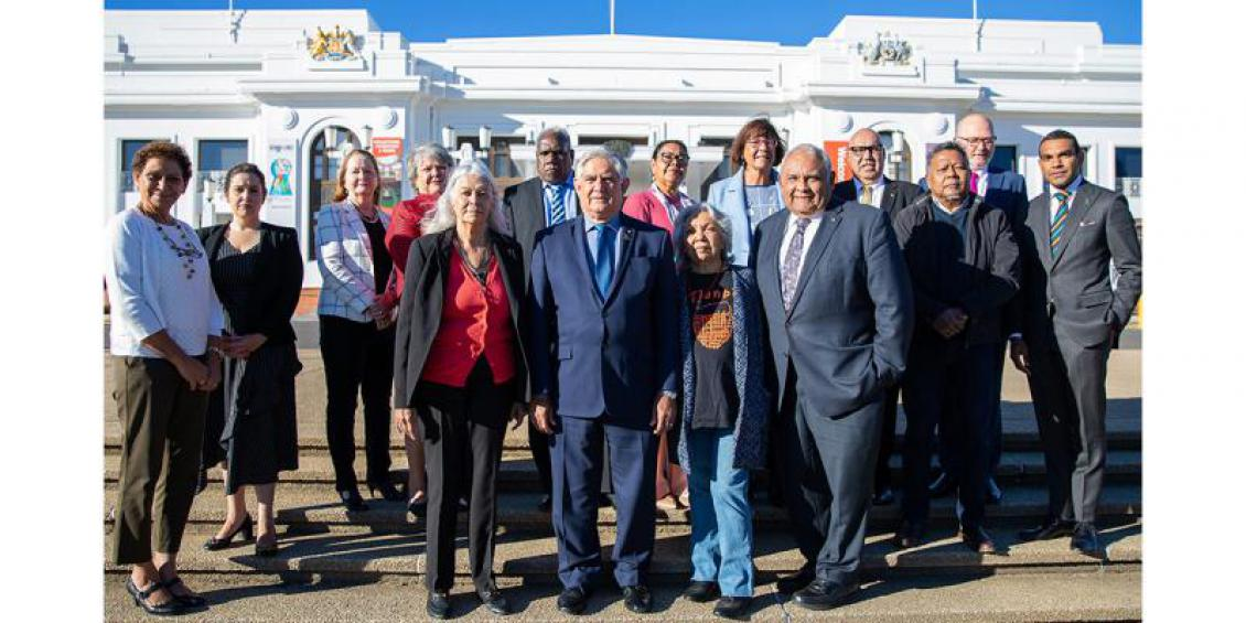 The Hon Ken Wyatt AM, MP, with Ngambri-Ngunawal Elder Aunty Matilda House and Senior Advisory Group members who attended the first meeting in Canberra.